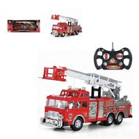 20 Jumbo Rescue Fire Engine Truck Remote Control Toy With Ladder Kid Boy Fun