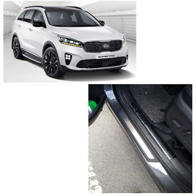 Genuine 4 Set Door Trim Step Plate Guards Protector Cover for Kia Sorento 2016