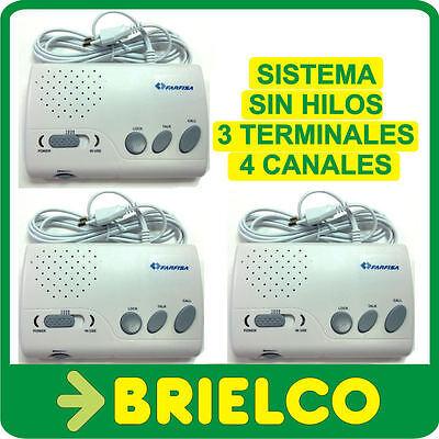 INTERCOMUNICADOR INALAMBRICO 220V SIN HILOS SISTEMA 4 TERMINALES 4CANALES BD9803
