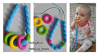 Silicone BEADS pendant teething nursing necklace Baby TEETHING NECKLACE teether