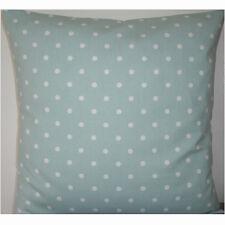 "NEW 26"" Euro Sham Cushion Cover Duck Egg Blue White Polka Dots Spots Nursery"