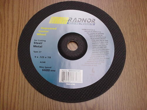 """Metal /& Stainless Steel Cutting Discs 100 Pack 9/""""x.0.125/""""x7//8/"""" Cut off Wheel"""
