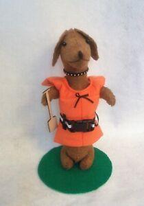 Dachshund-Red-Brown-Sculpture-Life-Vest-amp-Paddle-Boater-Summer-Felt-Decor