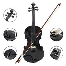 New 4/4 Full Size Natural Acoustic Violin Fiddle w/ Case Bow Rosin Black VD0Z