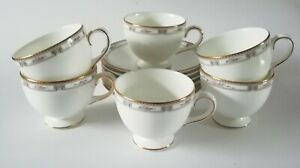 Wedgwood-Colchester-Tea-Cups-and-Saucers-x-6-1st-Quality