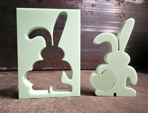 """corazón/"""" 45x6 cm accesorio motivo únicas formas Hormigón ttrovingsl styrodur /""""conejo"""