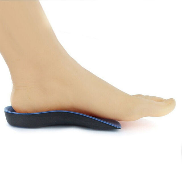 3/4 Orthotic Insoles Arch Support Fallen Arches Heel Planter Cushions Unisex