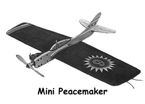 """UC Model Airplane Plans Mini Peacemaker 28/"""" Stunter for .09-.15 Engine"""