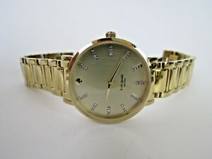 Kate-Spade-New-York-Gramercy-Grand-Ladies-Watch-0096-Gold-Champagne-Wristwatch