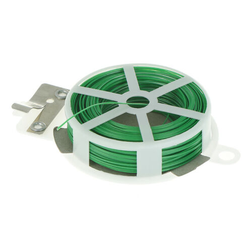 Sturdy Garden 30m Twist Tie Wire Cable Reel With Cutter Cable Tie Plant BusPRZT