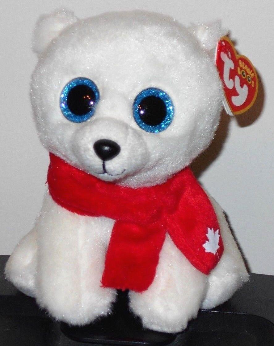 """Canada Exclusive Ty Beanie Boos NANOOK NANUQ the Polar Bear 6/"""" NEW MWMT"""