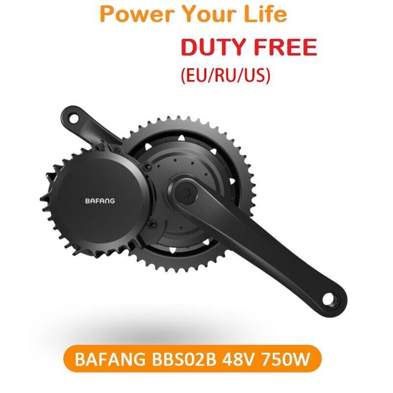 UE Duty Free Bafang BBS02 48V 750W Mid-Unidad Motor Kit de conversión E-Bike + Pantalla