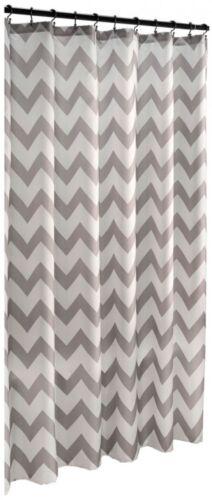 roth Polyester Grey Geometric Chevron Fabric Shower Curtain 70 x 72in ** allen