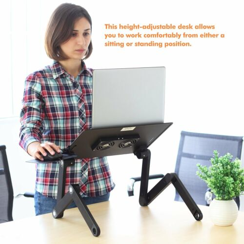 Portable Foldable Laptop Notebook PC Desk Table Vented Stand Bed Tray Adjustable