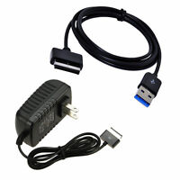 Ac Charger Power Adapter + Usb Cable For Asus Eee Transformer Tf201 Tf101 Tablet