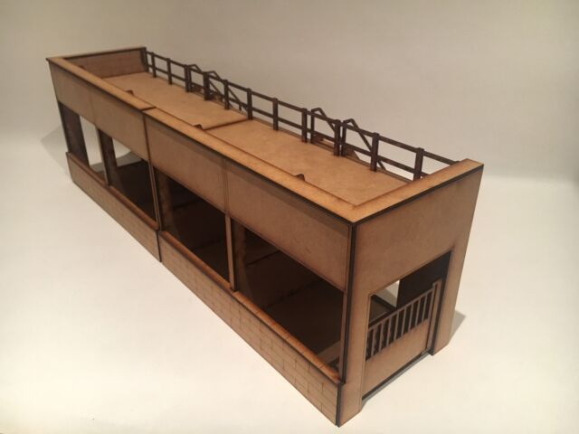 1/32 Scale Reims Gueux GP Pit End Buildings Scalextric Or Magnetic Racing -pair