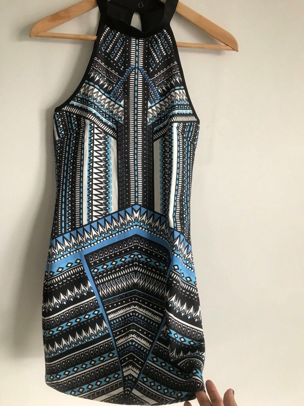 Dotti Mini Short Dress Multi-Color Aztec Print Ro… - image 4