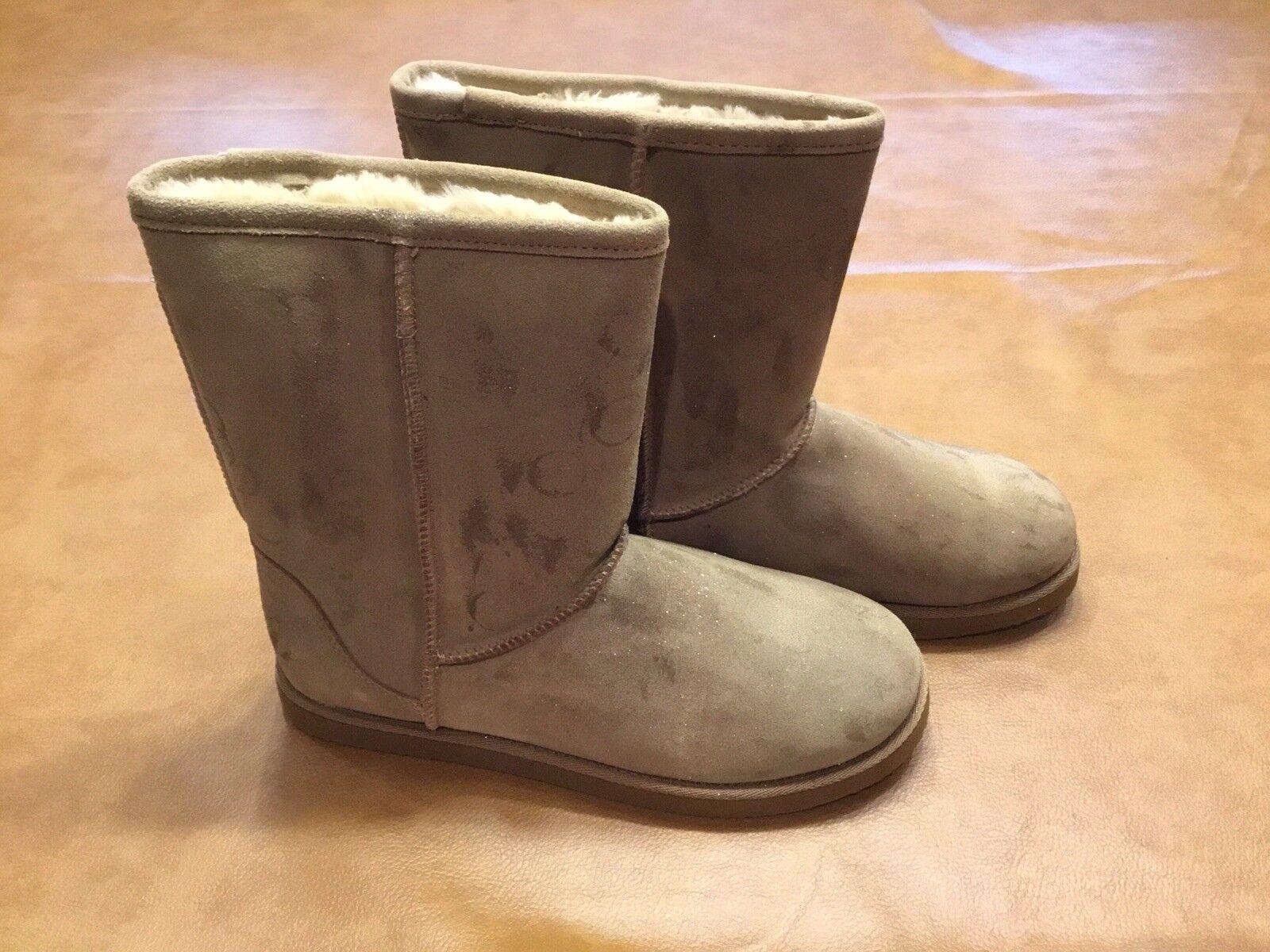 Melrose Avenue Damenschuhe Stiefel Größe 11 Tan Suede Leder Furry flat Lining flat Furry 7df2ab
