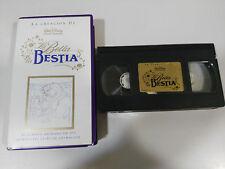 LA BELLA Y LA BESTIA LA CREACION VHS LOS CLASICOS DE WALT DISNEY COLECCIONISTA