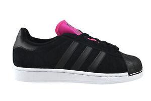 1dfb403b37 Das Bild wird geladen Adidas-Superstar-women-core-black-shock-pink-Sneaker-