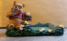 Simply Pooh Notepad Holder Resin Pooh's Garden