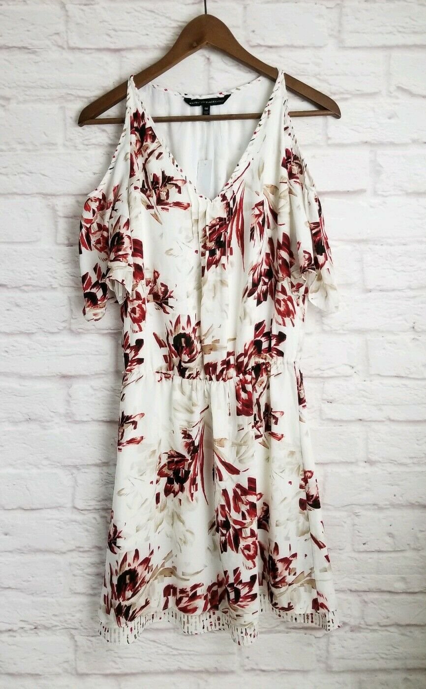 WHBM Cold Shoulder Printed Dress Size 00 Nwt