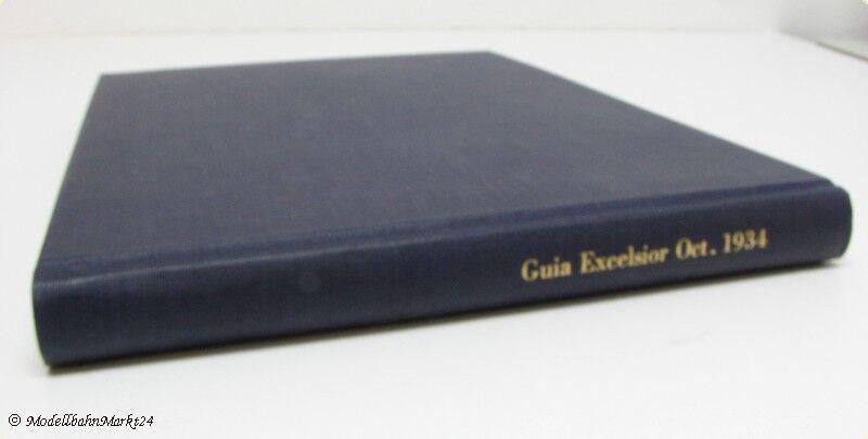 Feuille de route Guia Excelsior oct. 1934