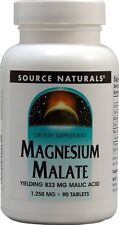 Source Naturals Magnesium Malate 1250 mg 90 Tablet 90 tab