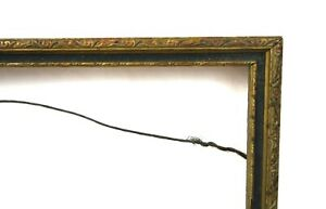 Antique-Art-Nouveau-Ornate-Gold-Gilt-Gesso-Picture-Frame-Fits-10-034-x-7-034