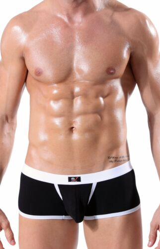 Taglie S M L XL Pantaloncini Da Uomo Boxershorts Hipster Mutande Nero Push Up WJ