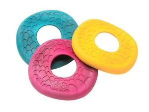 NEW-Pink-Blue-or-Yellow-Zogoflex-Air-Dash-Flying-Disc-Frisbee-Dog-Toy-West-Paw