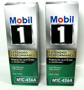 Mobil 1 Oil Filter >> Details About 2 Lot Mobil 1 Oil Filters M1c 456a Extended Performance High Efficiency Capacity