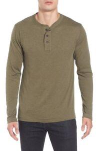 de hombre Henley Billy Cullman larga manga verde Reid Hombres oliva camiseta para 74HqP4w0