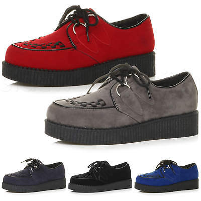 Ajvani Mens lace up Platform Shoes Teddy boy lace up Brothel Creepers Size