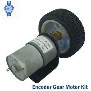 Wheel-Motors-Gear-With-Mounting-Bracket-DC-12V-Encoder-DC-Motor