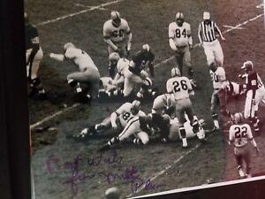 Milt Plum AUTOGRAPHED 8x10 photo - Cleveland Browns, Lions, Rams, Giants
