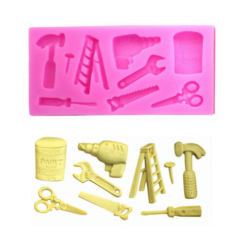 Silicone Mold Scissor Ladder Tools Set Chocolate Fondant DIY Soap Modeling Craft