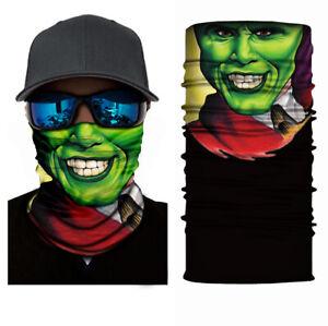 Balaclava Cycling Neck Tube Scarf Snood Biker Face Mask Bandana Gaiter Green Mas