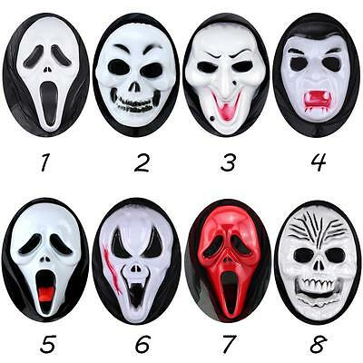 Scary Ghost Scream Face Costume Party Hood Horror Halloween Mask Funny Joke