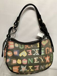 Dooney-and-Bourke-Purse-Hobo-Handbag-Monogram-Bag-Multi-Color-NWOT