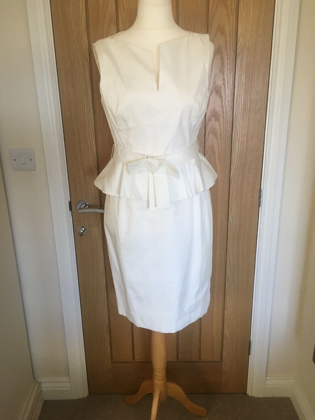 KAREN MILLEN PEPLUM DRESS SIZE 14