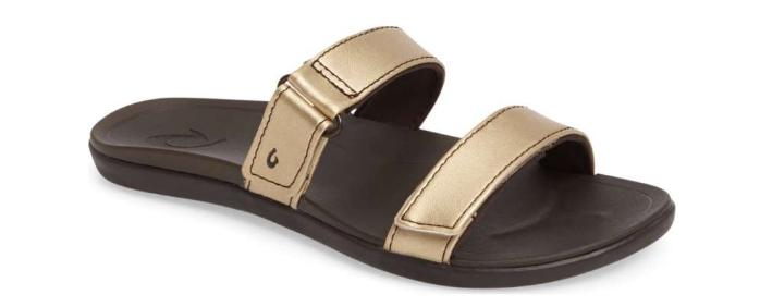 Olukai Olukai Olukai Kipuka Bubbly Dark Java Slide Comfort Sandal Women's sizes 7,11 NEW 6b0d41
