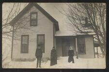 RP Postcard WASHINGTON IA  Mast Family Rural House/Home in Winter #2 view 1910's