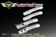 For 05-12 Nissan Sentra Chrome 4 Door Handle Cover Covers Trim w/SmartKey Cutout