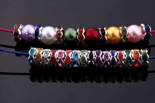 Lots Multicolor Crystal Rondelle Glass Bead Charm Making Jewelry Gifts Accessory