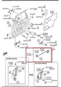 Ec0158322d Mazda Tribute Pass Rear Interior Door Handle Cable 2001 2006 Ebay