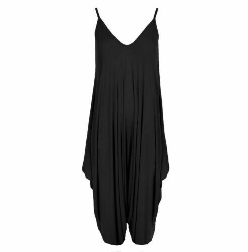 Ladies Cami Lagenlook Romper Baggy Hareem Jumpsuit Womens Plus Size Playsuit