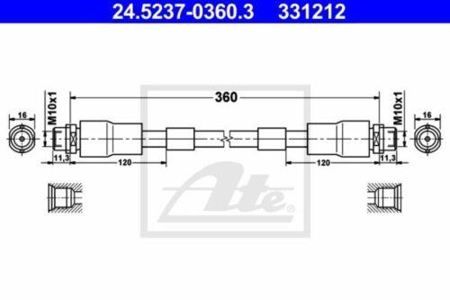 ATE Bremsschlauch Bremsleitung Vorne 24.5237-0360.3