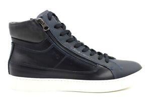 Nero-Giardini-A901301U-Blu-Sneakers-Polacchine-Casual-Sportive-Scarpe-Uomo