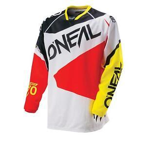 ONEAL-Hardwear-MX-Jersey-FLOW-BIANCO-SHIRT-SUPER-MOTO-CROSS-ENDURO-MOTO-MTB-FR